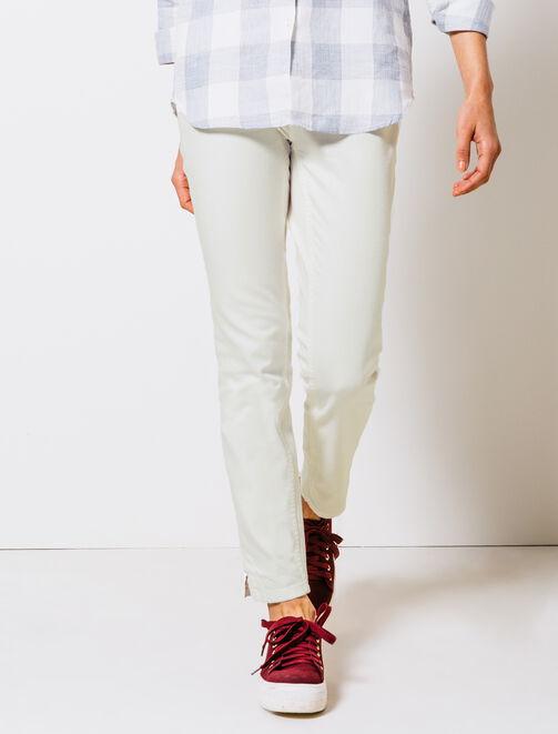 Pantalon slim cropped femme