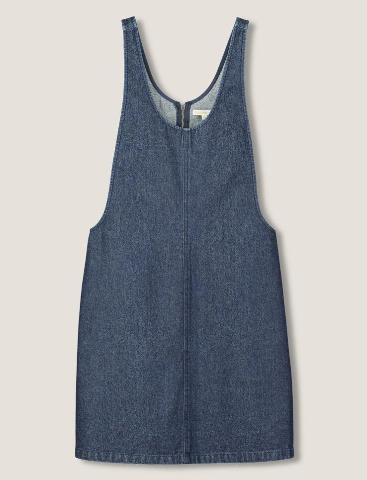 Robe Chasuble En Denim Femme Bleu Indigo | Bizzbee
