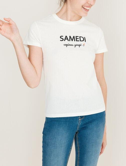 Tee shirt message semaine femme