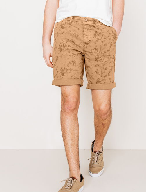 Bermuda imprimé jungle homme