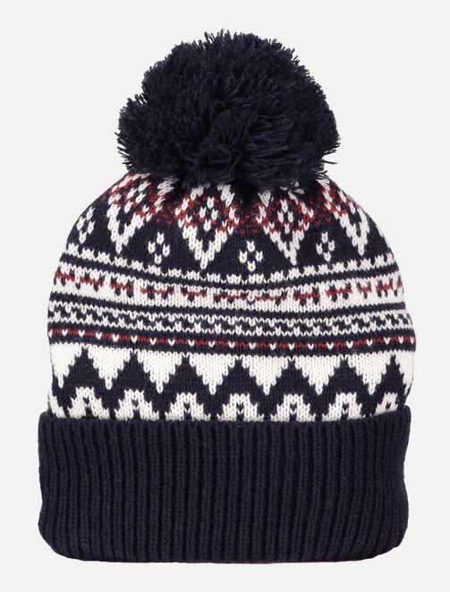Bonnet tricot jacquard homme