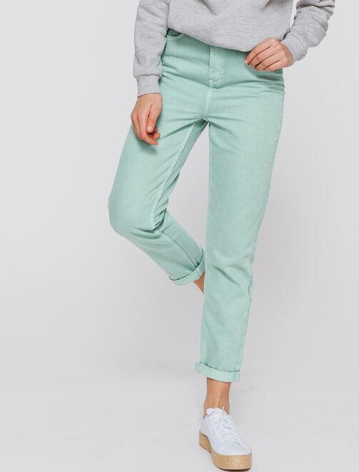 Jeans MOM taille haute couleur femme