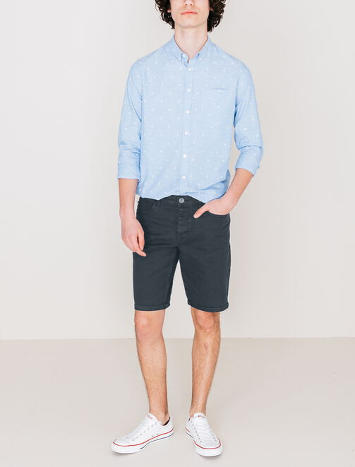 Bermuda 5 poches couleur homme
