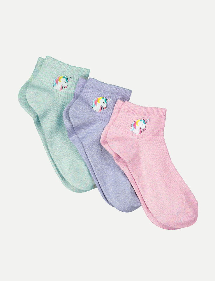 lot de 3 chaussettes licorne femme mauve bizzbee. Black Bedroom Furniture Sets. Home Design Ideas