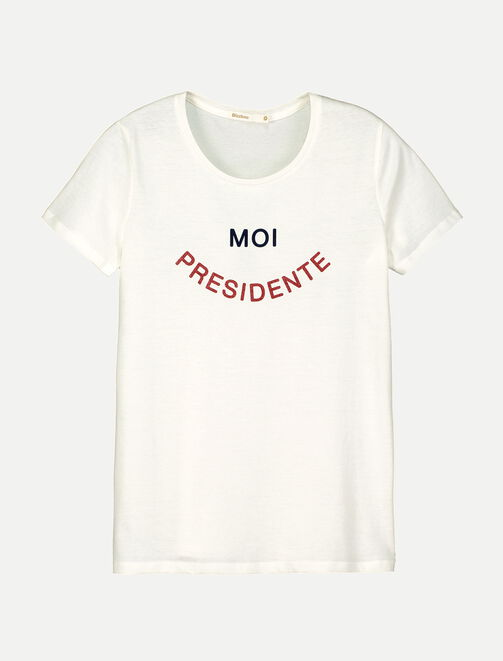 "T-shirt ""Moi présidente"" femme"