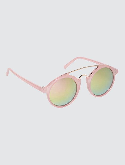 Lunettes aviateur roses femme