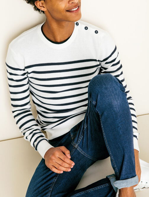 Pull Marin homme