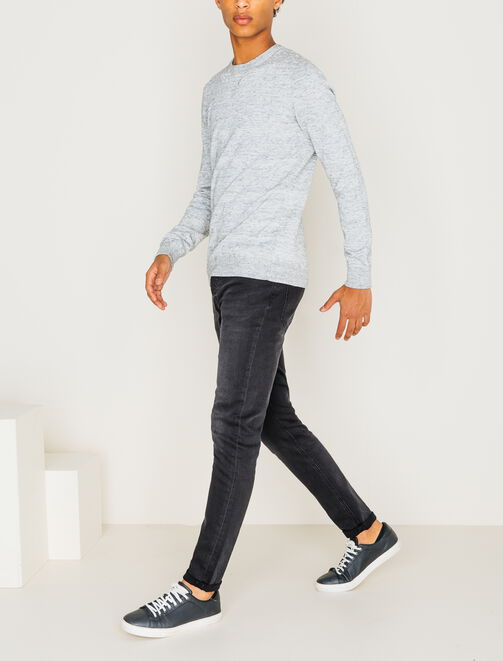 Jean skinny gris anthracite homme