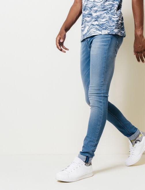 Jean skinny bleu homme