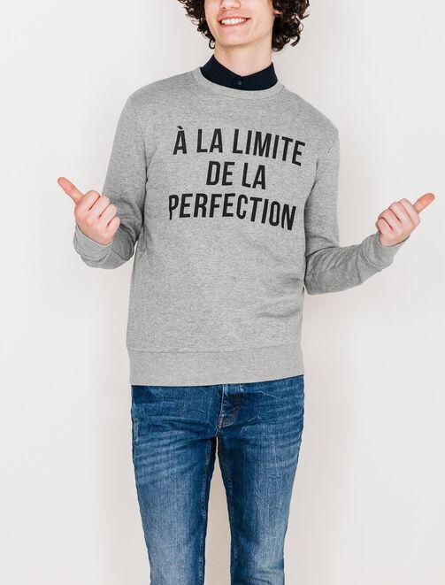 """Sweat """"A la limite de la perfection"""" homme"""