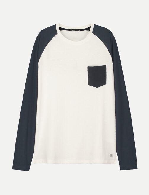 T-shirt raglan poche poitrine homme
