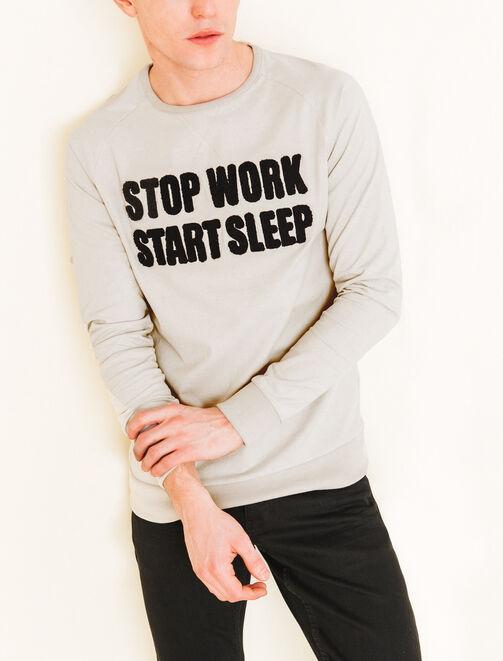 "Tee shirt ""Stop work start sleep"" homme"
