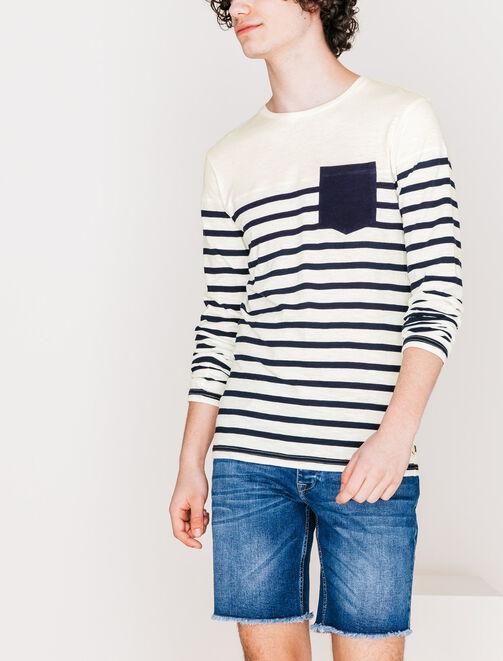 Tee shirt color-block marin homme