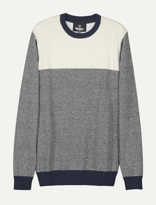 Pull color-block homme