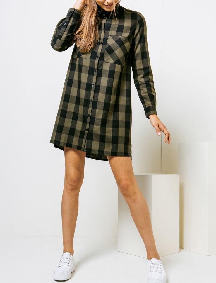 robe chemise a carreaux. Black Bedroom Furniture Sets. Home Design Ideas