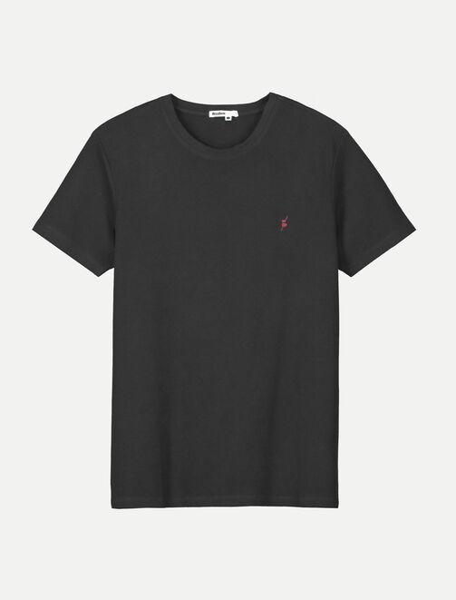 T-shirt piqué col rayé  homme
