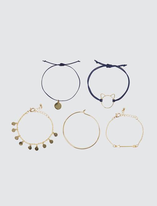 Set de 5 bracelets femme