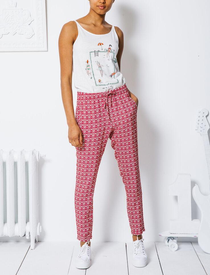 pantalon femme fluide imprime. Black Bedroom Furniture Sets. Home Design Ideas