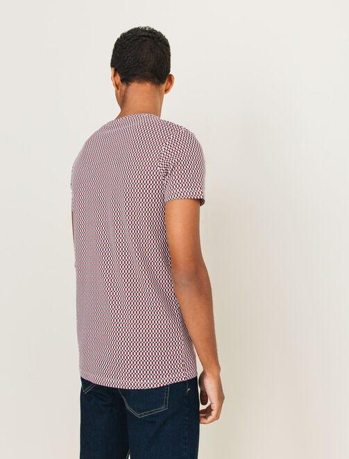 T-shirt imprimé géométrique homme