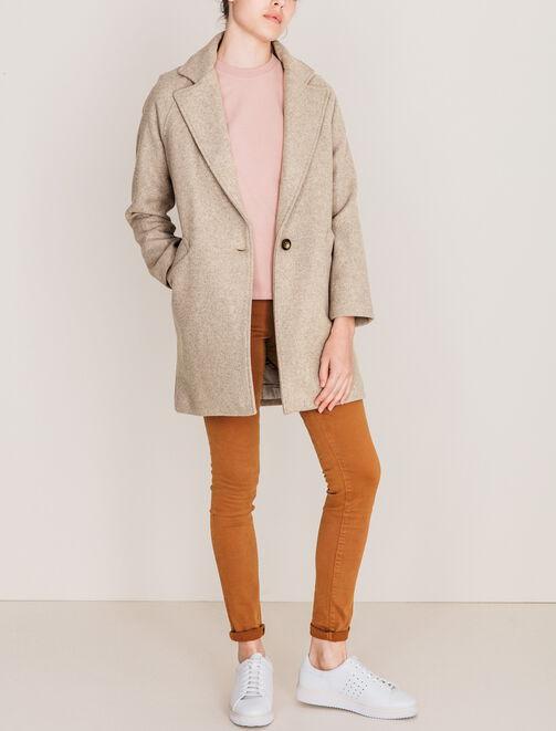 Manteau en laine intemporel femme