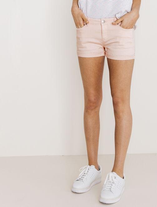 short coton elasthane couleur femme