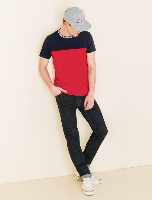 Tee shirt color-block sportswear homme