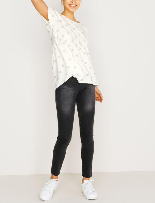 Jean skinny noir cropped  femme
