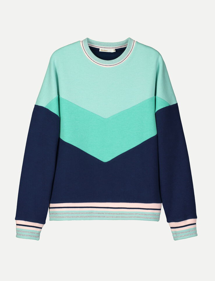 Sweat sportif color block