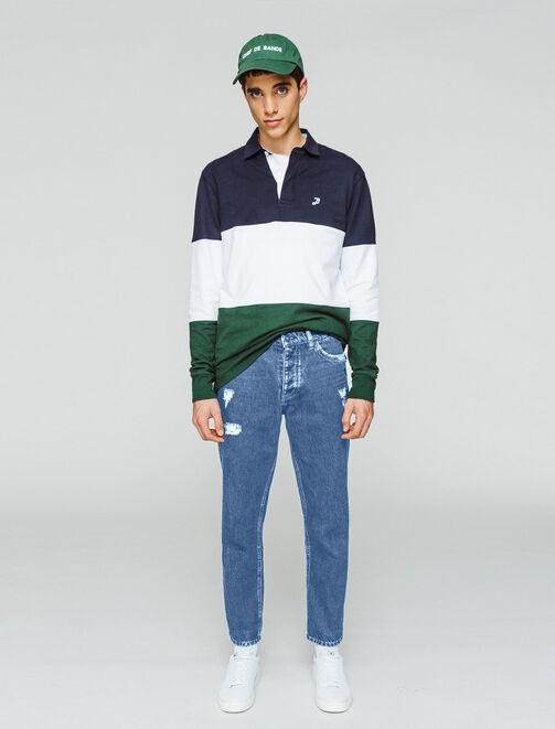 Jean straight tapered homme