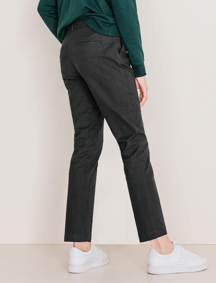 Pantalon carreaux prince de galles femme gris carreaux for Pantalon carreaux