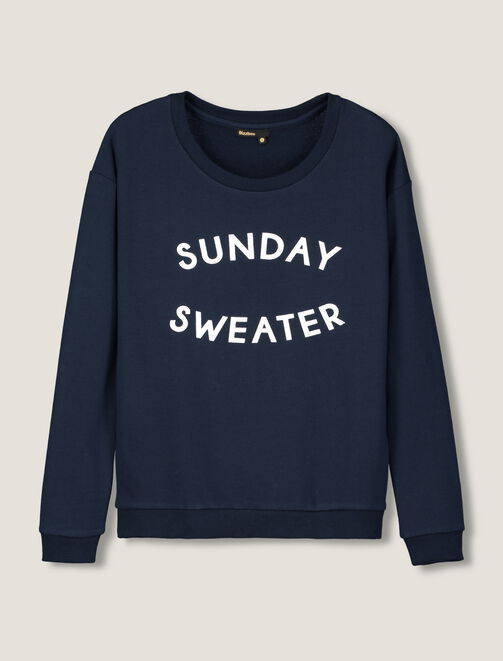 "Sweat message ""Sunday sweater"" femme"
