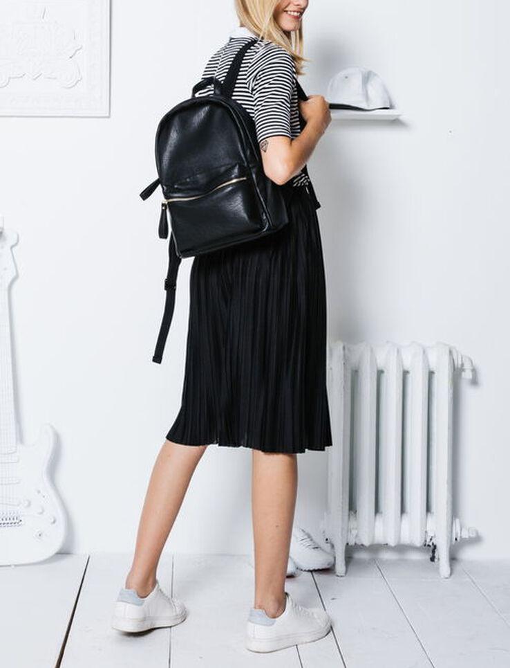 jupe longue en maille pliss e. Black Bedroom Furniture Sets. Home Design Ideas