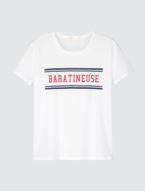 "T-shirt St Valentin col rond  ""BARATINEUSE"" femme"