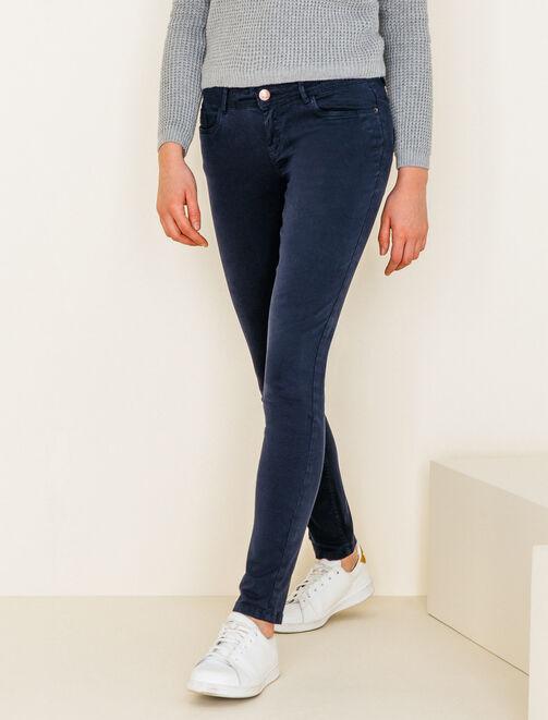 Pantalon 5 poches couleur femme