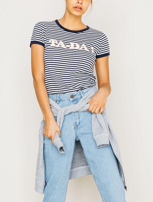 "T-shirt typo ""TA-Da !"" femme"