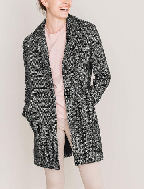 Manteau chiné oversize femme