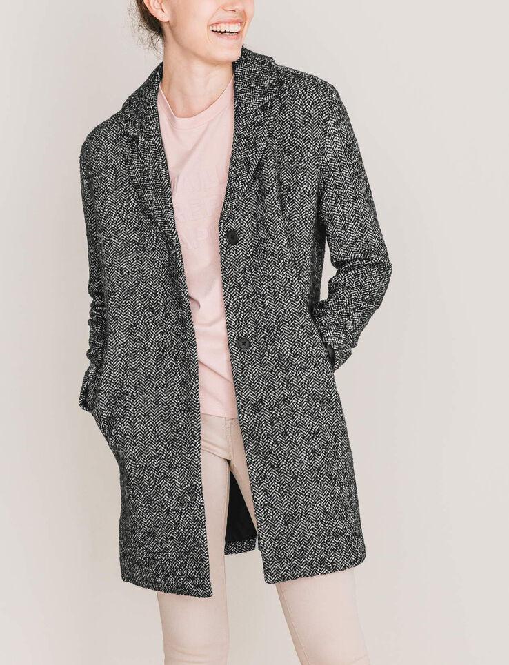 manteau chin oversize femme gris chin bizzbee. Black Bedroom Furniture Sets. Home Design Ideas