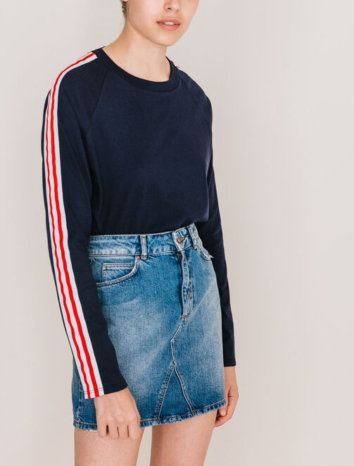 Tee shirt manches longues sporty femme
