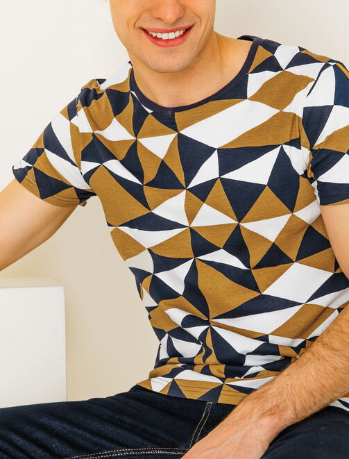 Tee shirt esprit ethnographique homme