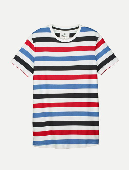 Tee shirt rayures tricolore homme