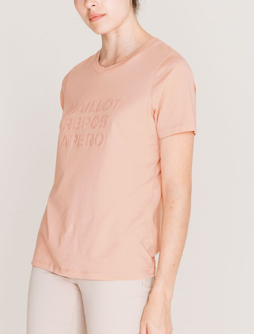 "Tee Shirt ""maillot repos apéro"" femme"
