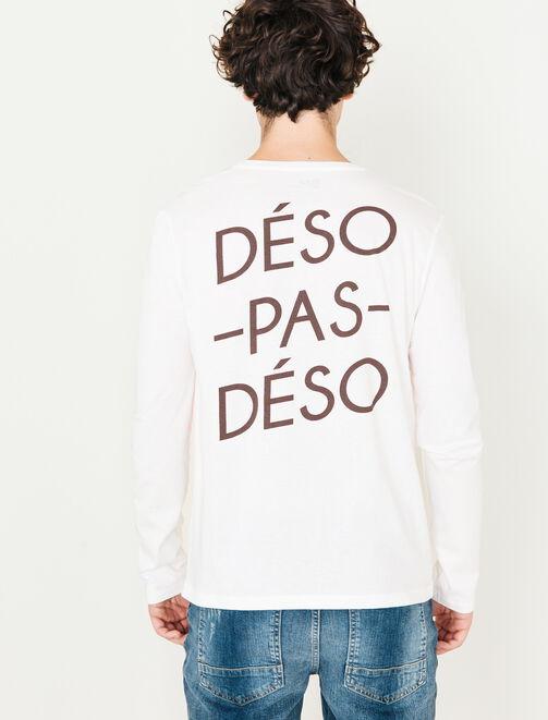 Tee Shirt Manches longues print devant et dos homme