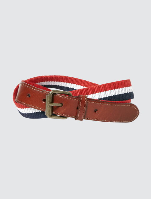 Ceinture sangle tricolore homme