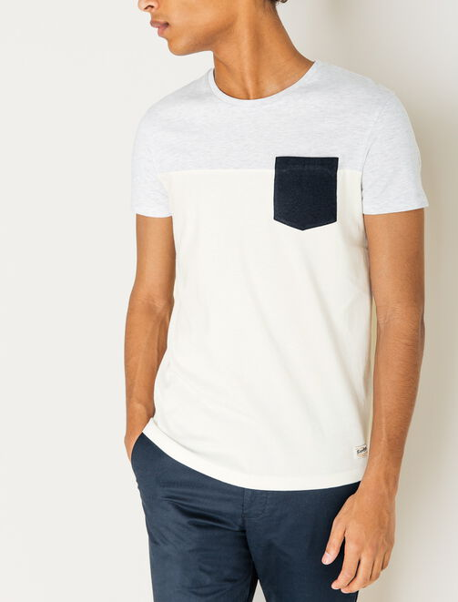 Tee shirt color-block homme