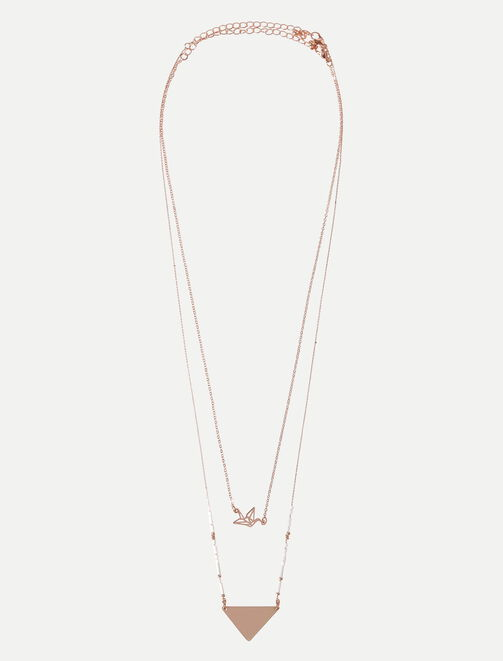 Colliers pendentif or rose femme