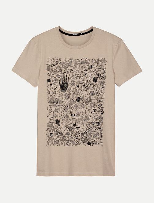 T-shirt imprimé multi-dessins homme