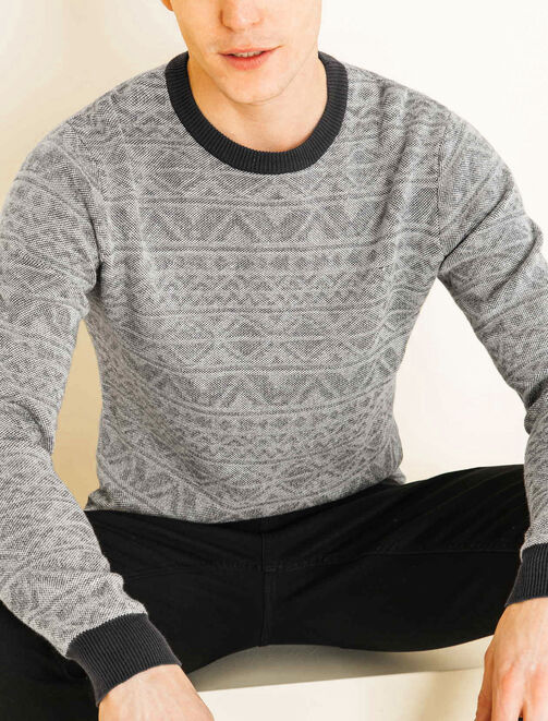 Pull ethnique homme