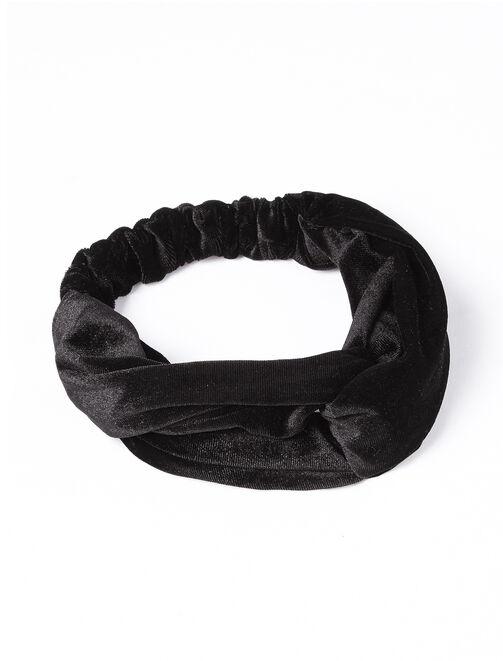 Headband velours femme