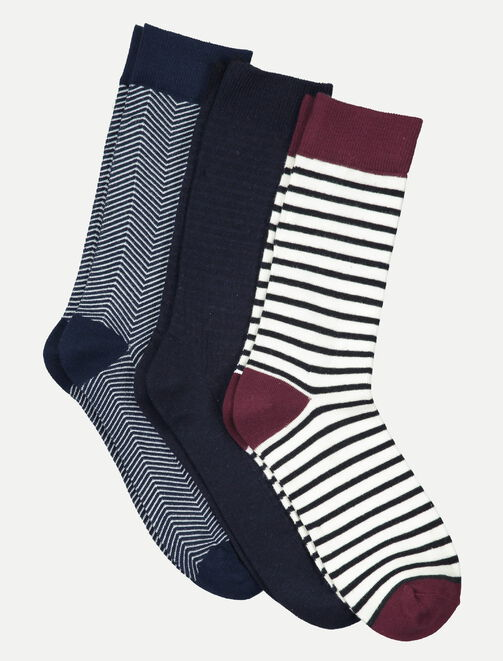 Lot de 3 chaussettes homme