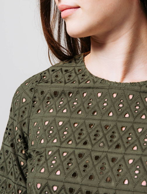 Top broderies anglaises femme